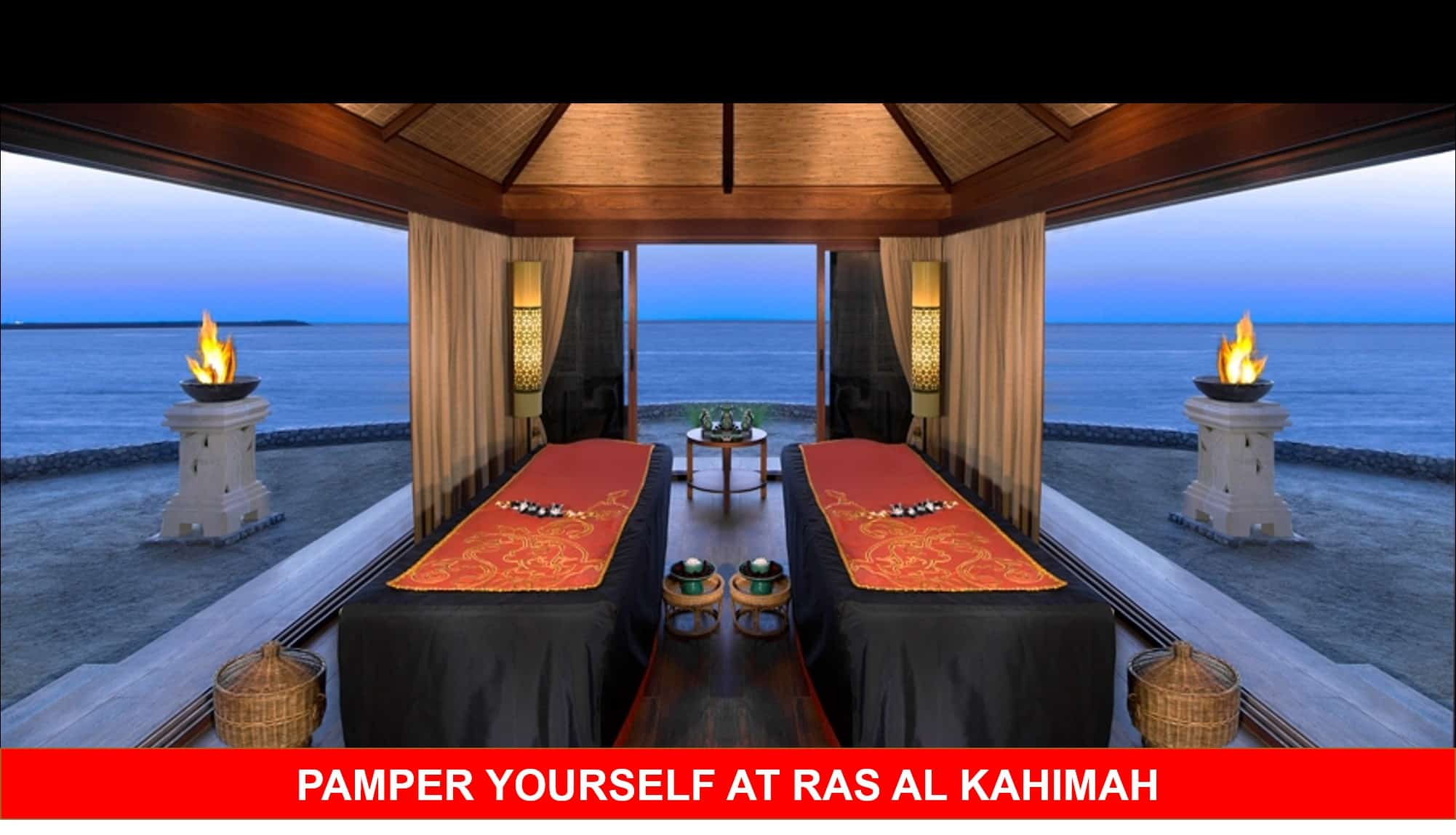 Ras Al Khaimah has tons of luxury spas and relaxing resorts