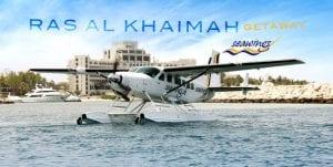Explore Ras Al Khaimah on a sea plane with sea wings