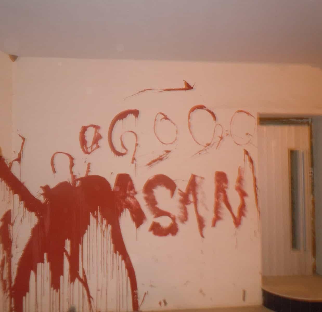 Wall blood graffiti at Qassimi Palace Ras Al Khaimah