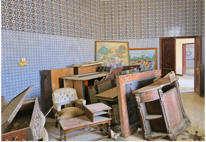 Interiors of Haunted Qassimi palace at Ras Al Khaimah