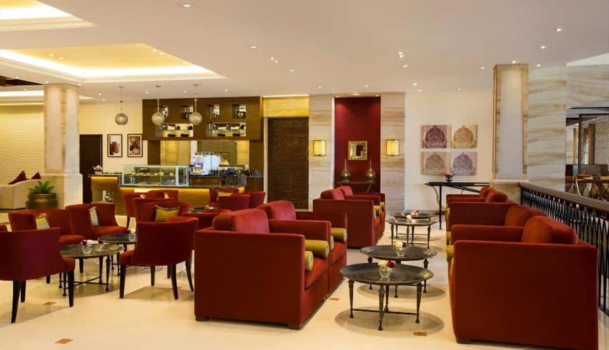 Fifa 2018 football at Lobby Lounge Hilton resort and spa Ras Al Khaimah