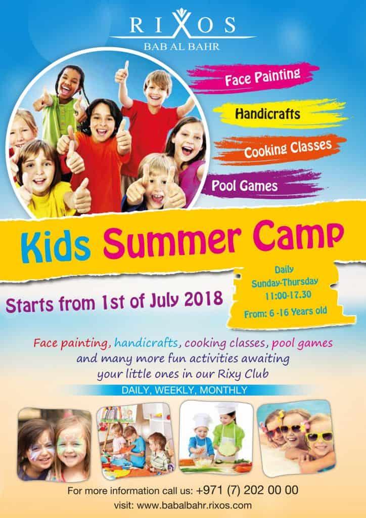 Summer camp Rixos Bab Al Bahr Ras Al Khaimah