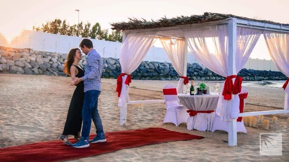 Cabana setup Romantic Dinner in Ras Al Khaimah