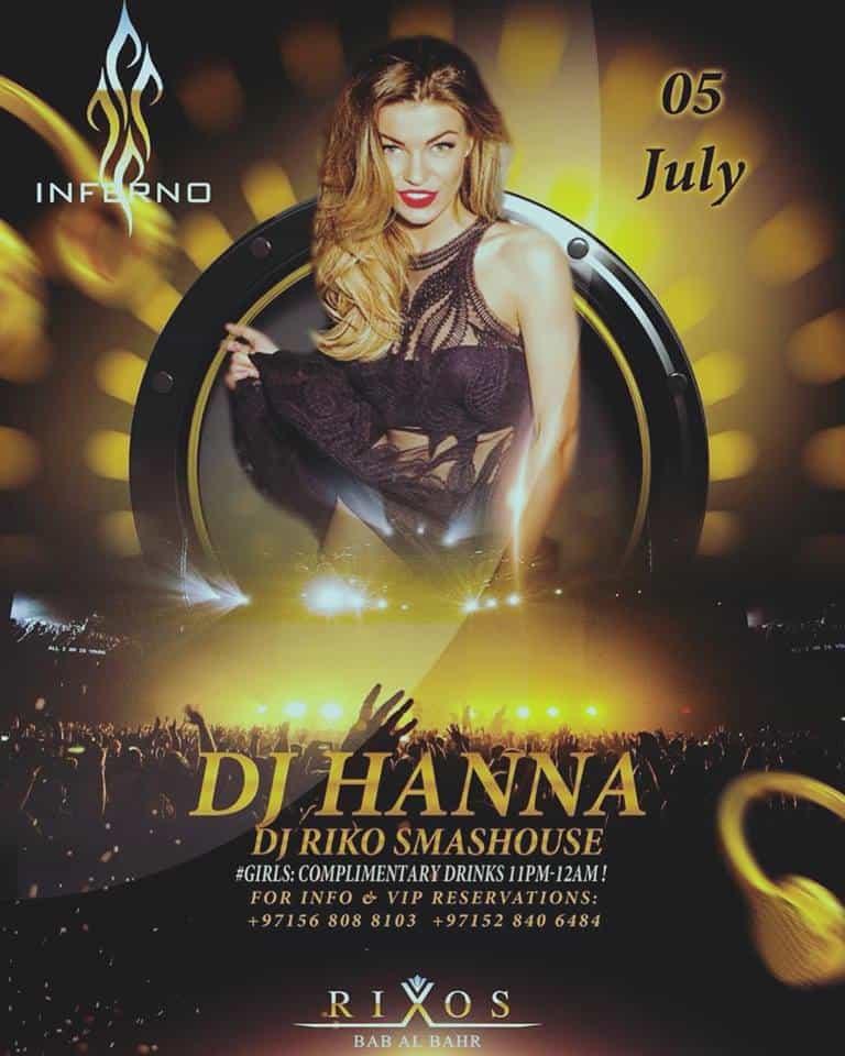 DJ Hanna Rixos Bab Al Bahar Ras Al Khaimah