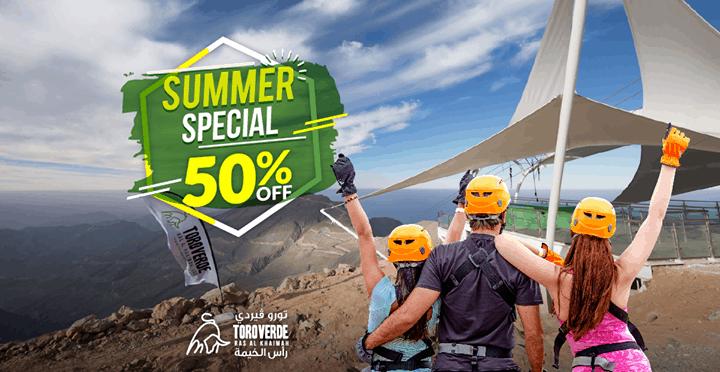 Summer offer Jebel Jais Flight zipline ras al khaimah