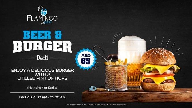 Beer & Burger at Flamingo Bar - Bin Majid Acacia Hotel and Apartments in Ras Al Khaimah