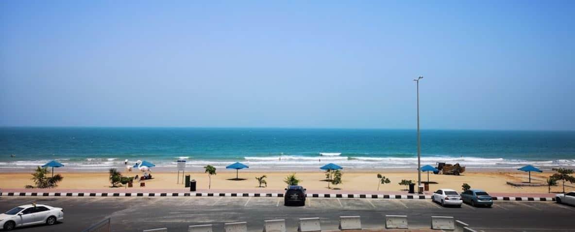 Flamingo or Muairidh Beach of Ras Al Khaimah