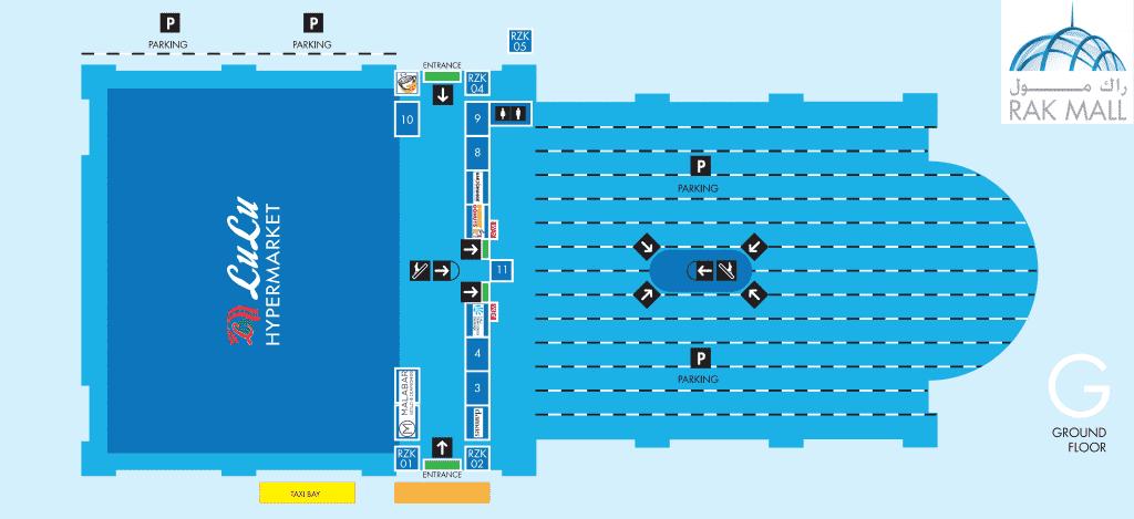 Floor Plan for ground floor of RAK Mall Ras Al Khaimah