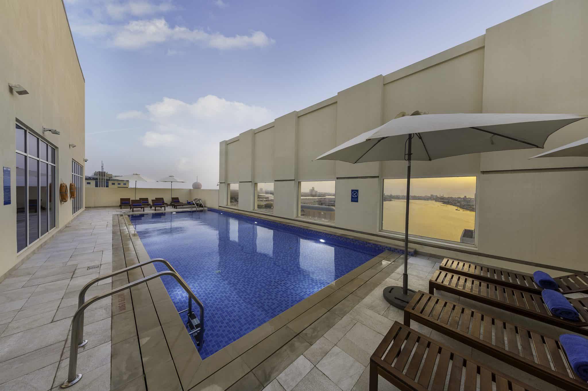 Aqua pool and bar at Citymax hotel RAK