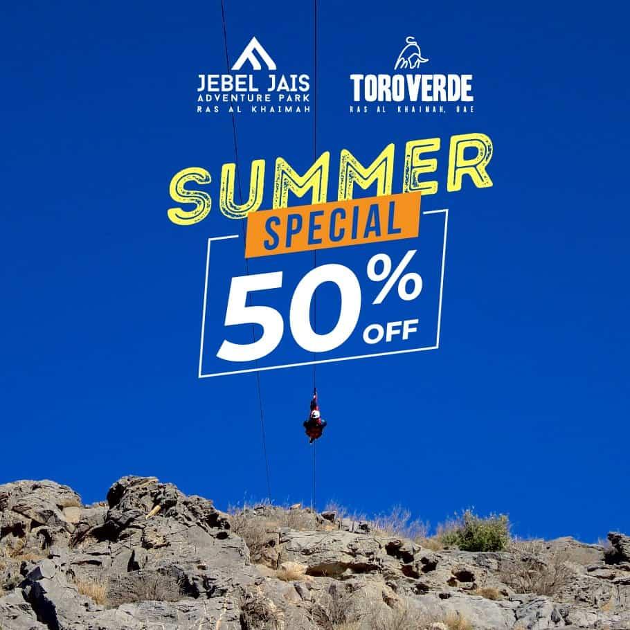 Summer Offer 50% off on Jebel Jais Flight Zipline