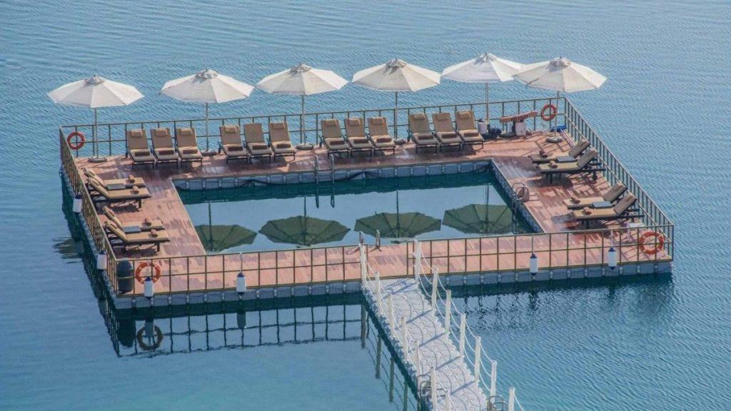 Make Splash at the New Floating Sea Pool at DoubleTree by Hilton Resort & Spa Marjan Island