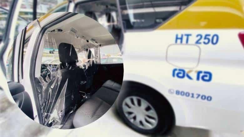Coronavirus: Plastic separators with front seat ban in RAK Taxies