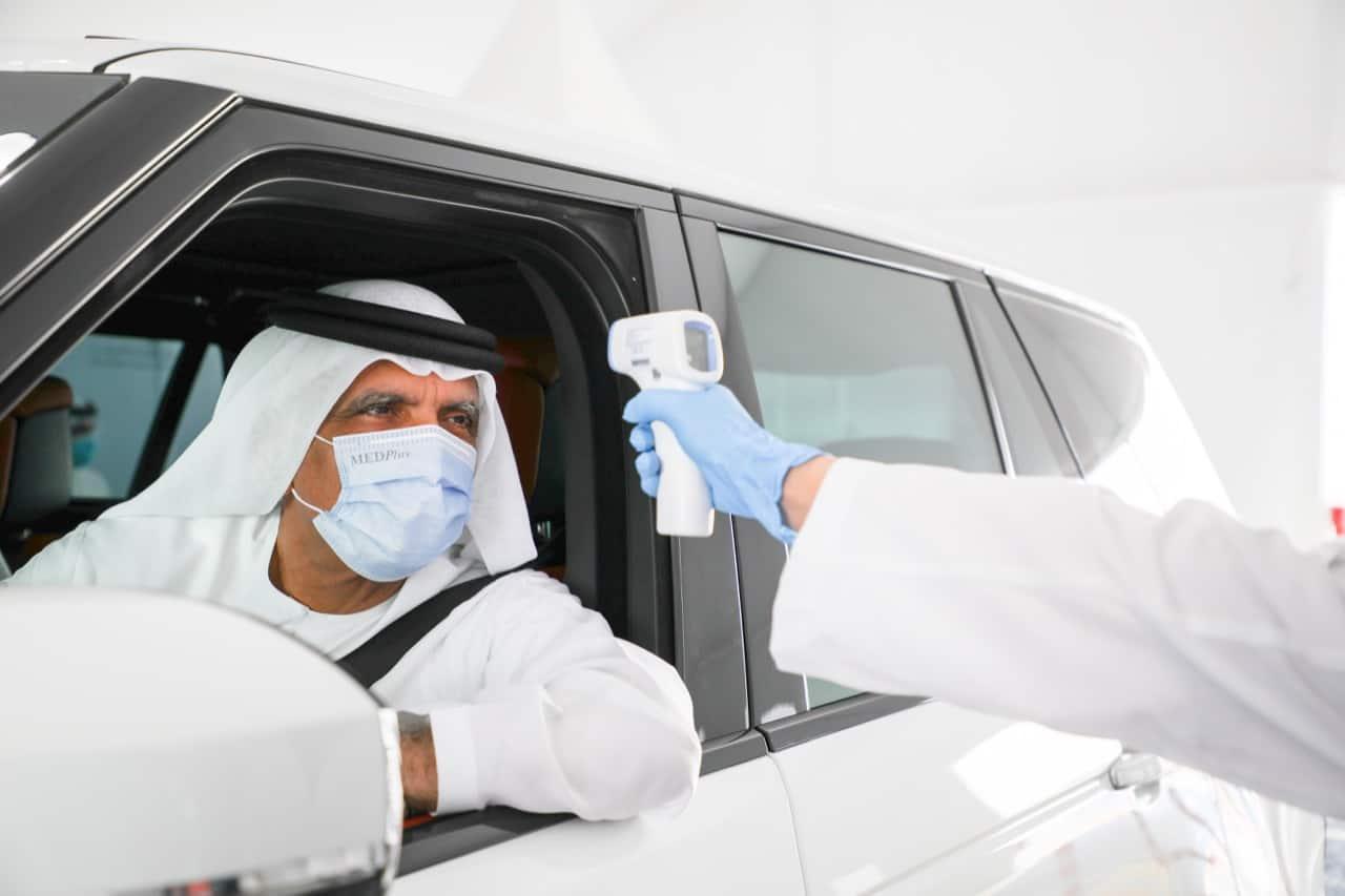 Ras Al Khaimah Ruler opens drive-through COVID-19 screening centre