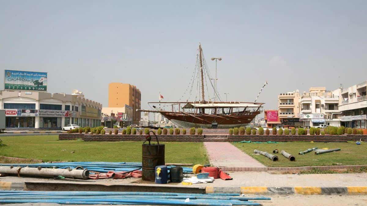 The landmark Dhow of Ras Al Khaimah returns to Boat Roundabout