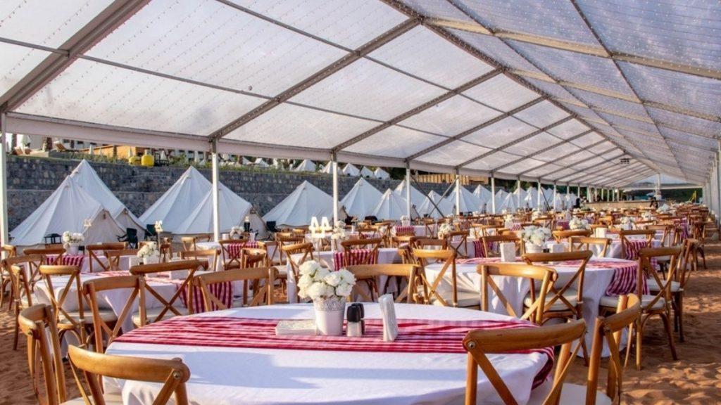 Beach Dining Area Long Beach Campground Ras Al Khaimah