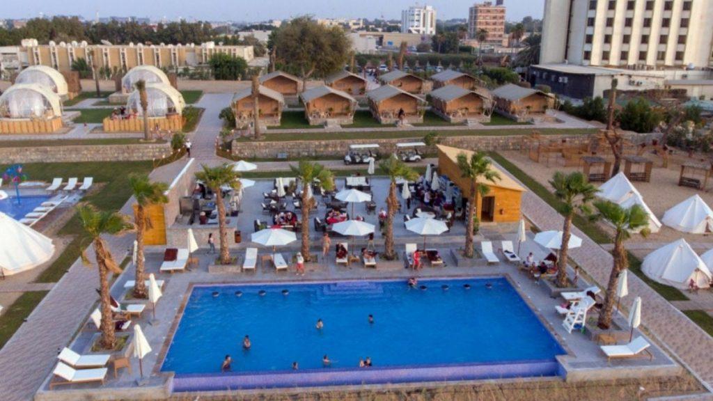 Infinity Pool Bar Long Beach Campground Ras Al Khaimah