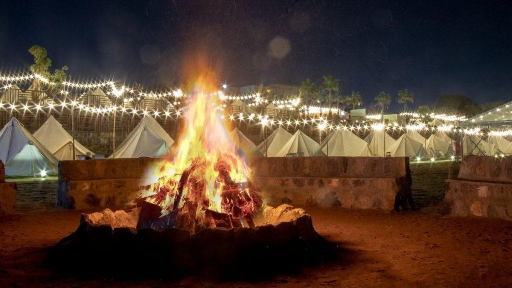 Under the stars Long Beach Campground Ras Al Khaimah