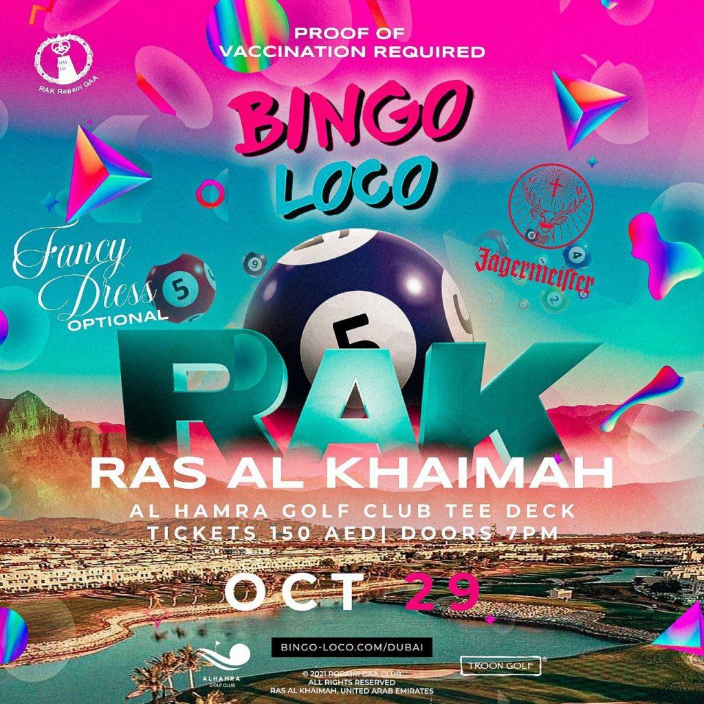 Bingo Loco Al Hamra Golf club Ras Al Khaimah
