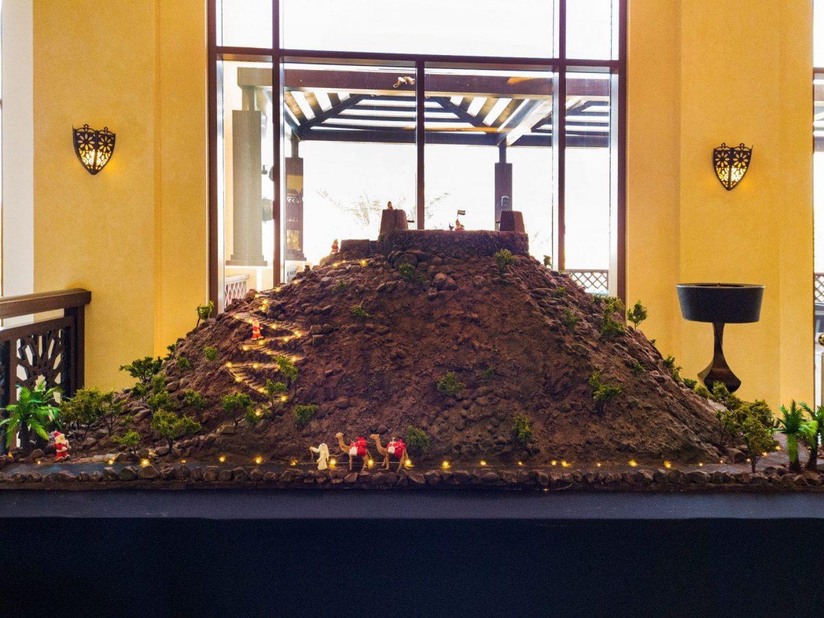 'The Dhayah Fort' gets the chocolate treatment at Hilton Ras Al Khaimah Resort & Spa.