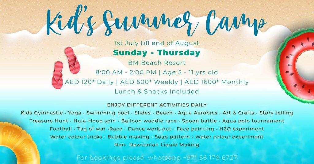 Kid's Summer Camp BM Beach Resort