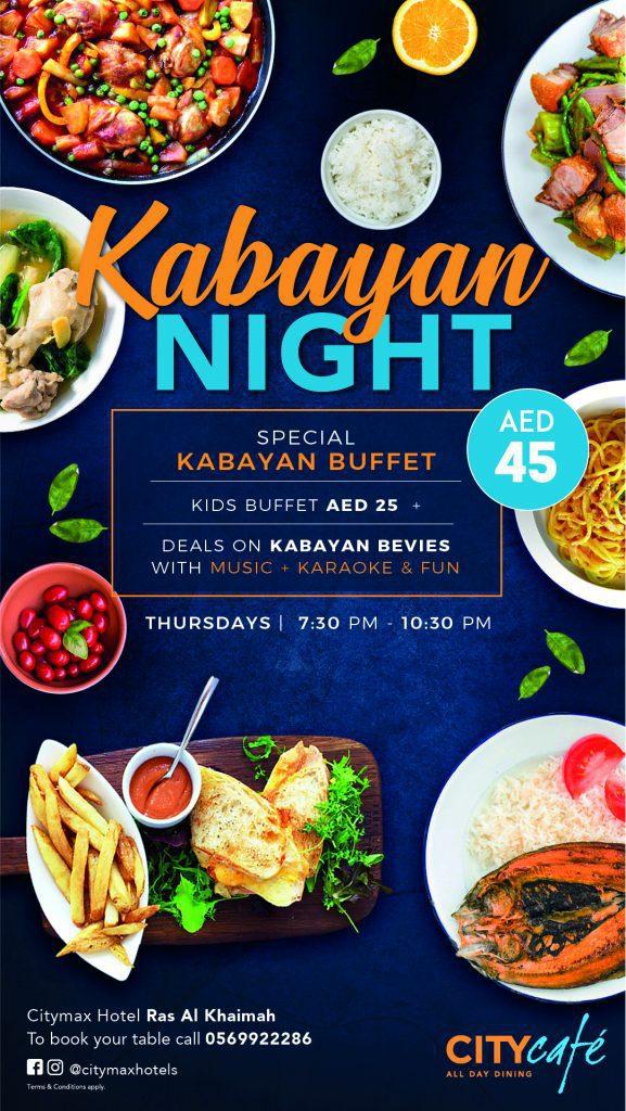 Kabayan Night every Thursday at City Cafe