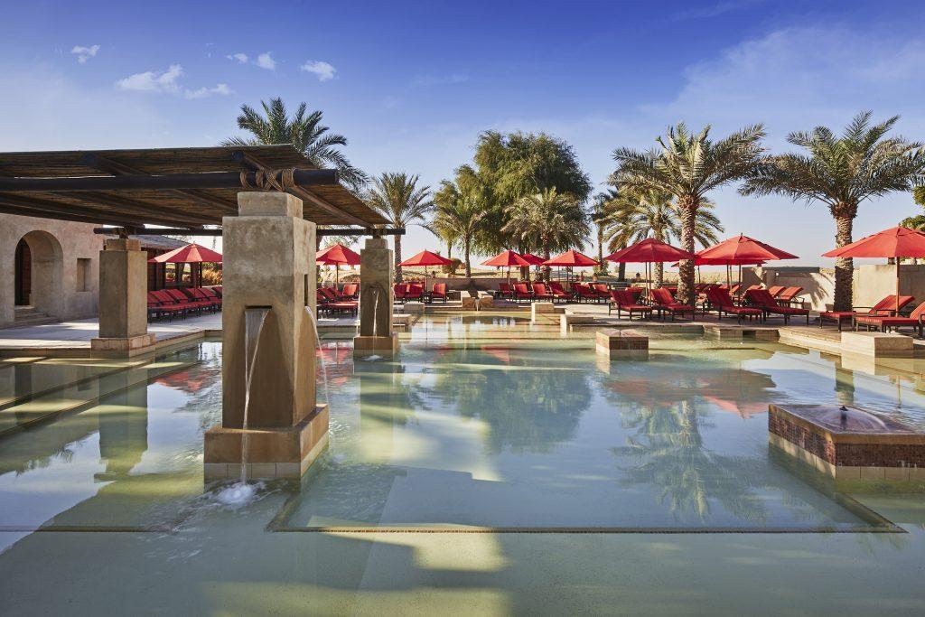 Enjoy the pool and lunch day at Bab Al Shams Desert Resort