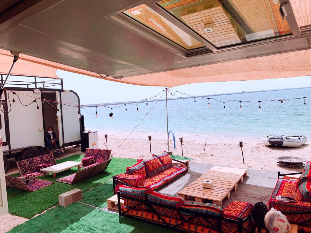 Camping on Beach by KhaThi (Al Jazeera Old Town Beach)