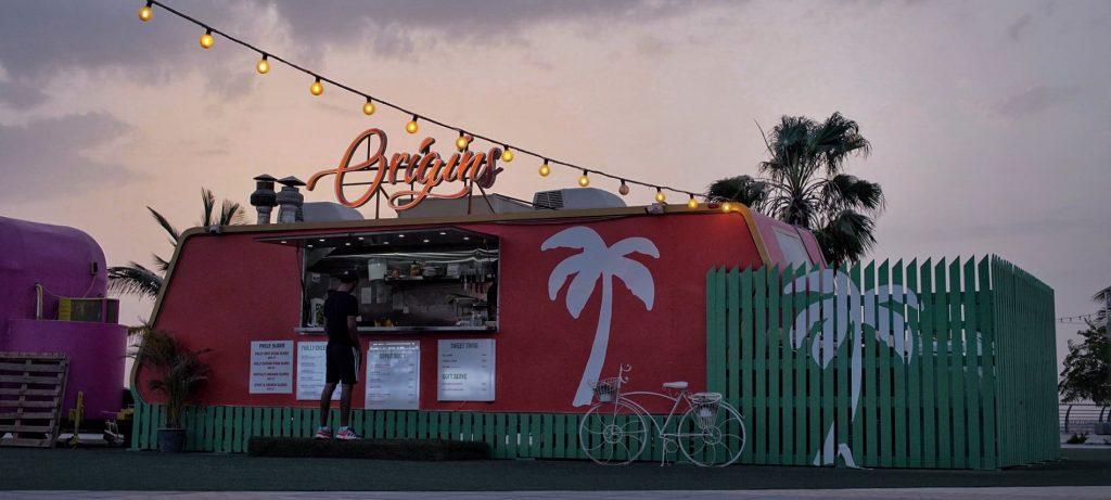 Origins Fast Food Truck in Marjan Island RAK